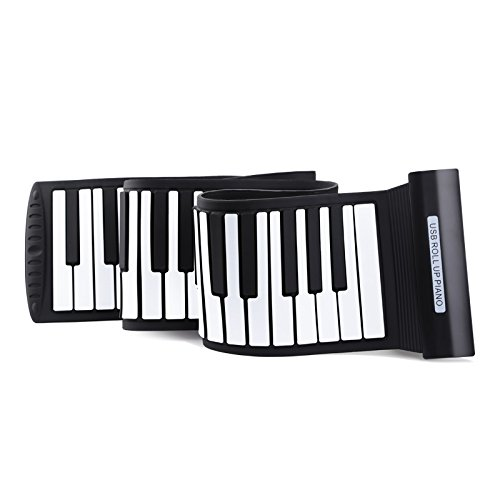 Roll Up Piano 88 keys Light Weight Electronic Keyboard Silicone Midi Electronic Musical Instruments USB Interface EnzoDate