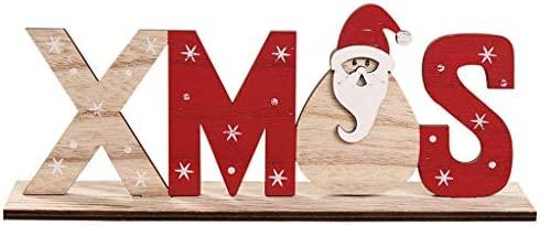 Cartel de madera con diseño de Papá Noel, muñeco de nieve ...