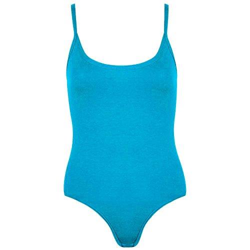 Janisramone - Camiseta sin mangas - Básico - Sin mangas - para mujer turquesa