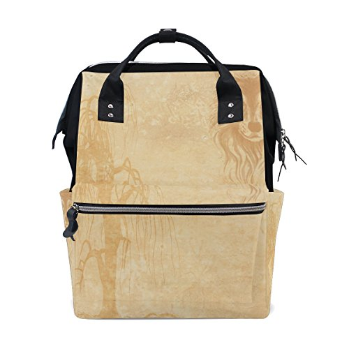 Unisex Fashion Casual School Travel Laptop Backpack Rucksack Daypack Tablet Bags (Orange) - 6