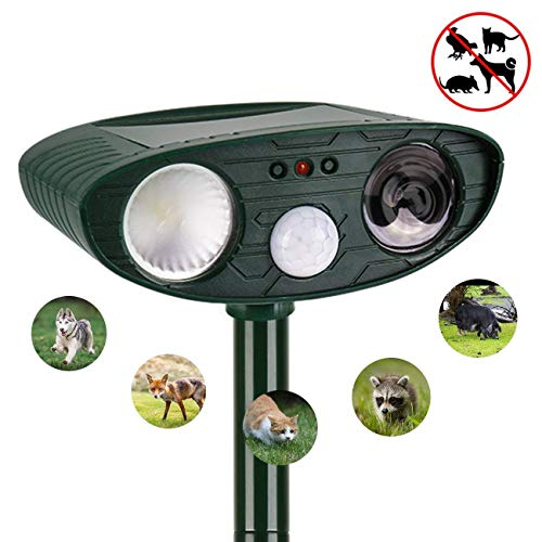 Dog Repellent Ultrasonic, Outdoor Solar Powered and Weatherp