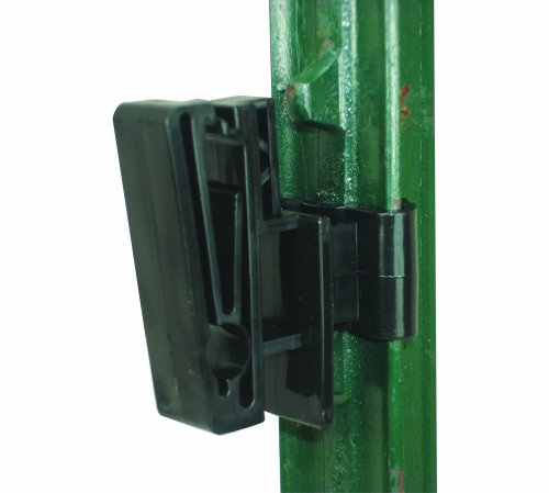 Field Guardian T-Post 2-Inch Polytape or 3/8-Inch Rope Insulator, Black ()