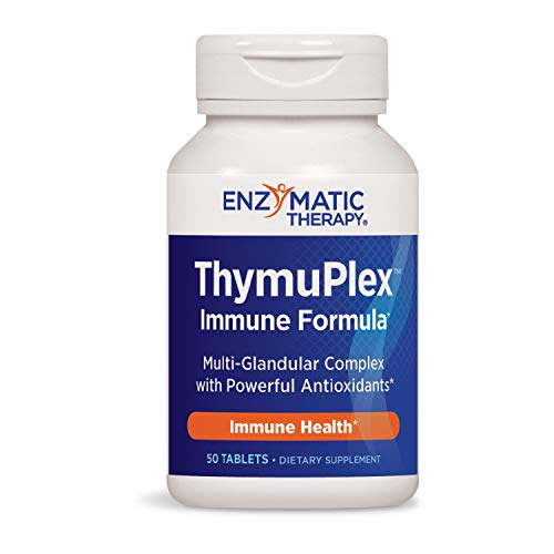 Nature's Way ThymuPlex Immune Formula Multi-Glandular Complex w/Powerful Antioxidants 50 Count (Packaging May Vary) ()