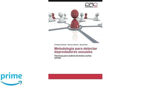 Metodología para detectar depredadores sexuales: Amazon.es: Alemán ...
