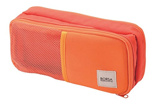 ELECOM Accessory Pouch General Purpose 3 pocket Stretch Fabric Light Orange BMA-GP10DR by Elecom