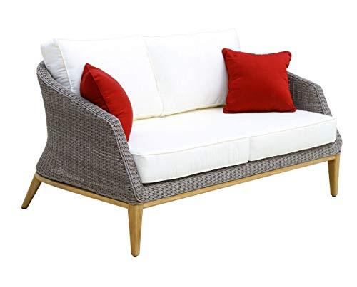 Douglas Nance Capri Deep Seating Loveseat w/White Cushion