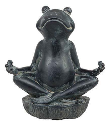 Ebros Gift Feng Shui Vastu Buddha Zen Yoga Frog Meditating Statue Decorative Talisman Figurine For Positive Flow And Harmony For Home or Office 6