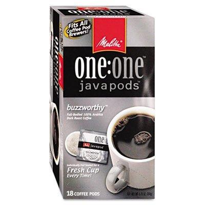 MLA75002 - Melitta Usa Melitta One:One Dark Roast Coffee Pods, Buzzworthy, 18 Pods/Box ()