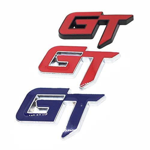 Plata Gaoominy 3D GT Logo Pegatina De Coche Pegatina De Decoracion De Coce De Moda para Mustang Focus 2 3 Fiesta Ranger Mondeo Mk2 Rojo