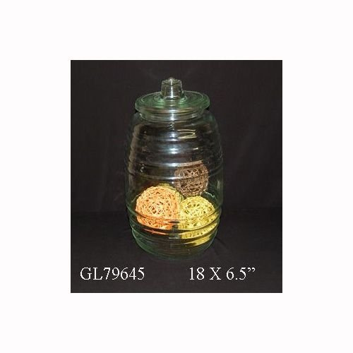 GL79645 Giant Glass Jar With Lid [Set of 2]