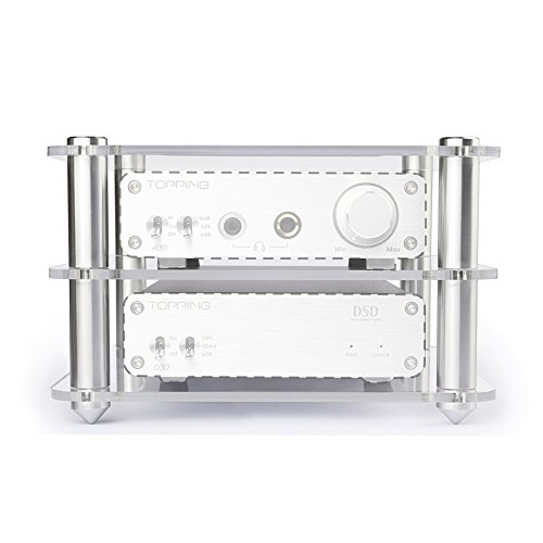 Polaris Shelf - Topping 14x14x4.5cm for A30 D30 Amplier Shelf Transparency