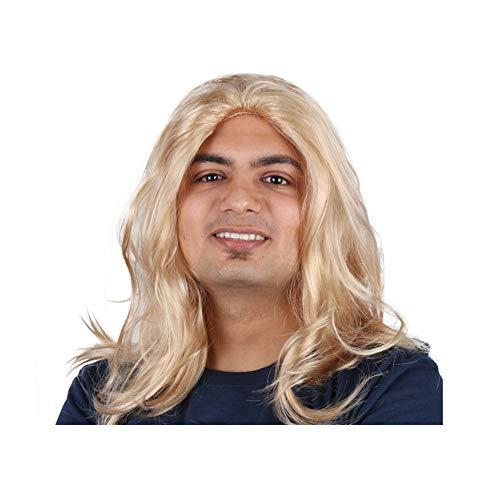 YOLANDEK Long Blonde Wig Men Party Wig for Cosplay Costume Halloween Hair -