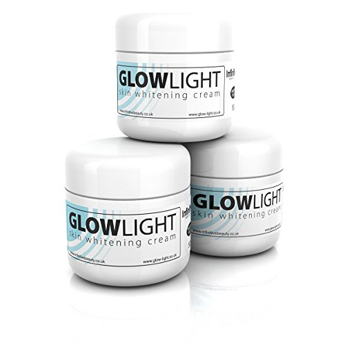 Glowlight Made In UK Skin Whitening & Lightening Cream Lotion for Age Dark Spots, Acne Scars, Scars, Stretchmarks & All Round Brighter Radient Skin 50g (4 Tub x 50g)