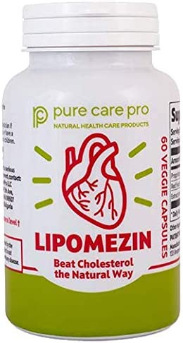 LIPOMEZIN Cholesterol Lowering Supplement Capsules product image