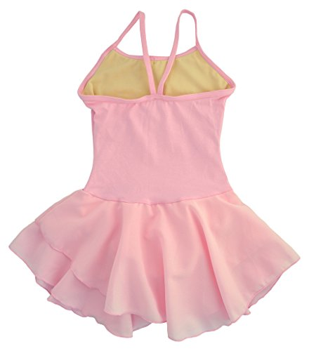 Dancina-Girls-Leotard-Dress-Classic-Camisole-Ballet-Cotton-with-Chiffon-Skirt