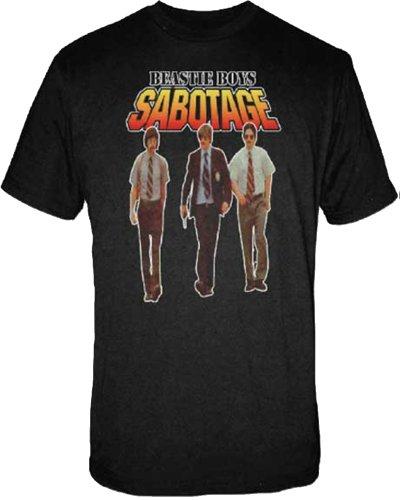 FEA Men's Beastie Boys Sabotage T-Shirt, Black, Small