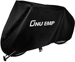 ONUEMP 自転車カバー 豪雨対策 バイクカバー 210D オックス生地 防水 厚手 丈夫 撥水加工UVカット サイクルカバー 防犯 防風 電動自転車雨 子供乗せ 防塵 耐熱 収納袋付 破れにくい 29インチまで対応