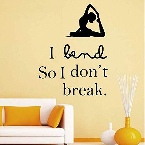 Postura de yoga pegatinas de pared dormitorio vinilo pared ...
