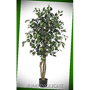 JumpingLight 5299 4′ Ficus Silk Tree Artificial Flowers Wedding Party Centerpieces Arrangements Bouquets Supplies