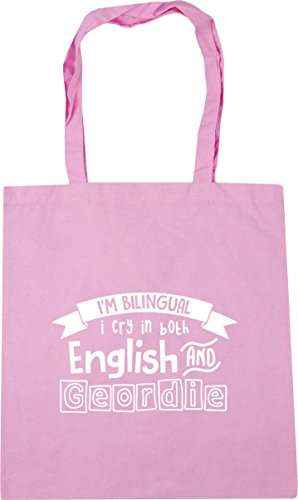Cry 42cm Classic x38cm English and Pink HippoWarehouse 10 litres Gym Tote Bilingual Both I'm in Geordie Bag Beach I Shopping UqZqw6t