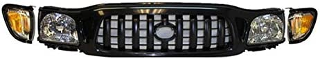 FOR Toyota 2001-2004 Tacoma Grille Black Headlight Park Light 5Pcs TO2502136 TO2503136 TO2520163 TO2521163 TO1200250