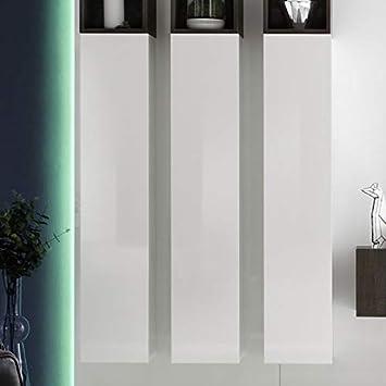 NOUVOMEUBLE Columna Blanca Brillante lacada diseño de Cubo: Amazon.es: Hogar