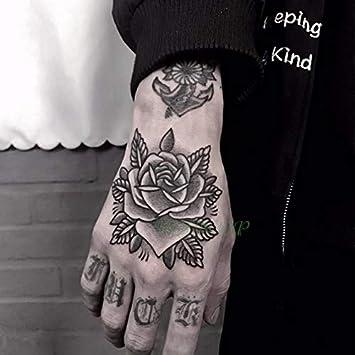 HXMAN 3 Unids Impermeable Tatuaje Temporal Pegatina Cráneo Cabeza ...