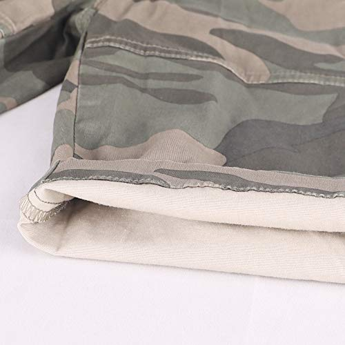 Muscle Alive Hommes Shorts Cargo Camping Randonnée Coupe Slim Camouflage Ancien 100% Coton 6