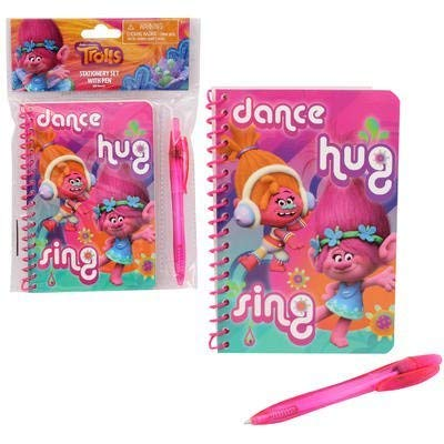 1 Set 4SGM Trolls Stationary Set with Pen Multi 12300