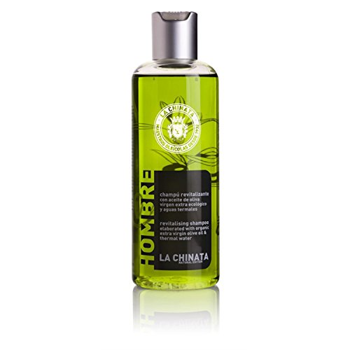Men's Revitalizing Shampoo Elaborated With Organic Extra Virgin Olive Oil and Thermal Water From Spain, Natural Hair Products and Moisturizing For All Hair Types, 250ml (Therapy Lotion Organic Olive Oil)
