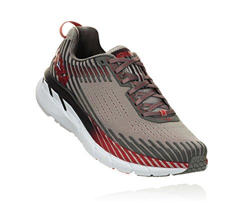 HOKA ONE ONE Clifton 5 Trail Running Shoe - Men Alloy/Steel
