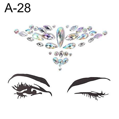 4da3e8190b Buy 1PC DIY Eyebrow Face Body Art Adhesive Crystal Glitter Jewels ...
