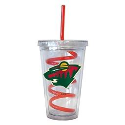 NHL Minnesota Wild Tumbler with Swirl Straw, 16-ounce