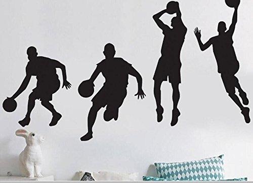 Bluelover 40X90cm Jugando Baloncesto Wall Stickers Extraíble ...