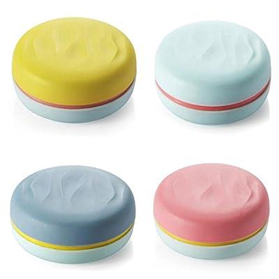 DOGOO Portable Mini Shoes Polisher Macarons Shape ,4 Pack