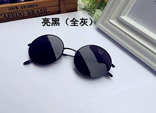 Retro Montura 11 Gafas Metal diseño Sol y Hombre Negro de Mujer uu de xel Planas para Gafas negro de Sol Redondo AP5vpWqx