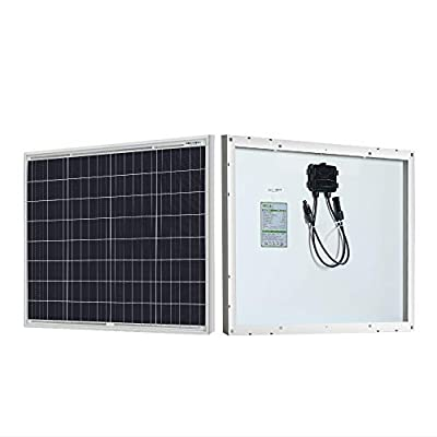 HQST 50W 12V Polycrystalline Solar Panel High Efficiency Module Off Grid PV Power for Battery Charging, Boat, Caravan, RV and Any Other Off Grid Applications : Garden & Outdoor