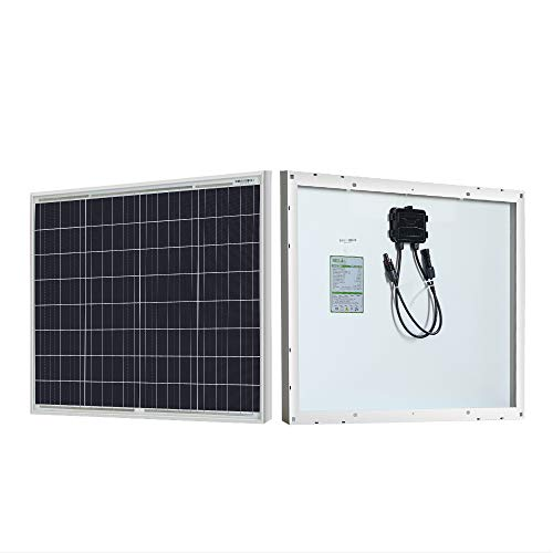 HQST 50W 12V Polycrystalline Solar Panel High Efficiency Module Off Grid PV Power for Battery Charging, Boat, Caravan, RV and Any Other Off Grid Applications