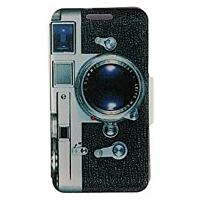 ZXSPACE Kinston Camera Pattern PU Leather Full Body Case with Stand for iPhone 5C