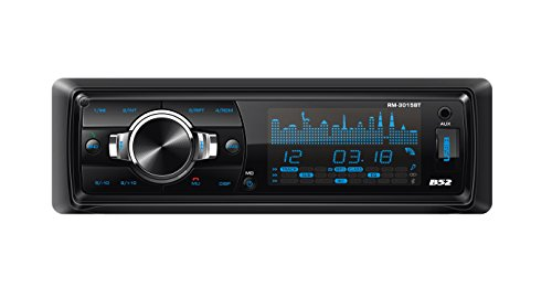 B52CarAudio RM-3015BT Car Audio Stereo Receiver 208W with Bluetooth, USB, SD and MMC Card,LCD Screen, MP3 Files