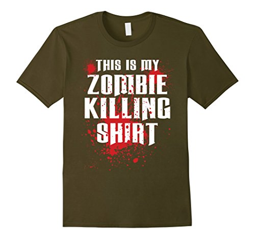 Undead Cheerleader Costumes (Mens zombie outbreak response team T-shirt Large Olive)