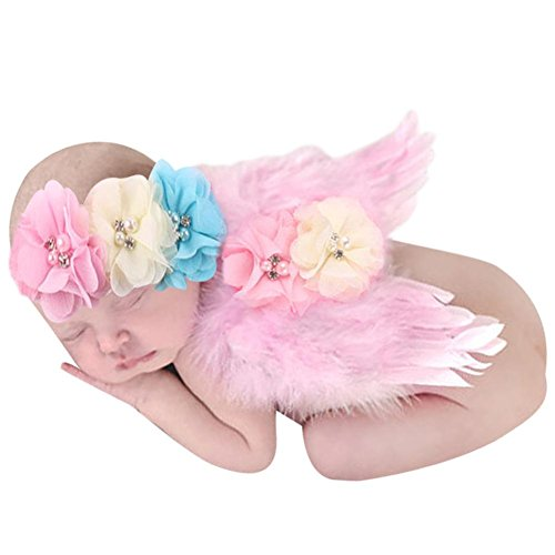 [Babys Photography Props,amazingdeal Newborn Kids Girls Angel Feather Wings Costume(Pink2)] (Angel Costume Hair)