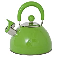 Panorama Retro Whistling Kettle Green