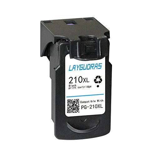 LAYGUDRAS PG 210XL/CL 211XL Remanufactured ink cartridges high yield replacement for PIXMA IP2700 IP2702 MP230 MP240 MP250 MP270 MP280 MP480 MP490 MP495 MP499 (1Black)