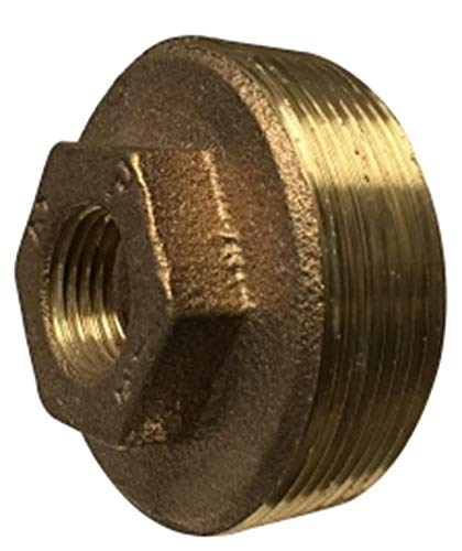 1-1//2 x 3//8 2.16 Hex 1.35 Length 1-1//2 x 3//8 Midland Metal Midland 44-520 Bronze Fitting Hex BUSHING Size 1.35 Length Bronze 2.16 Hex