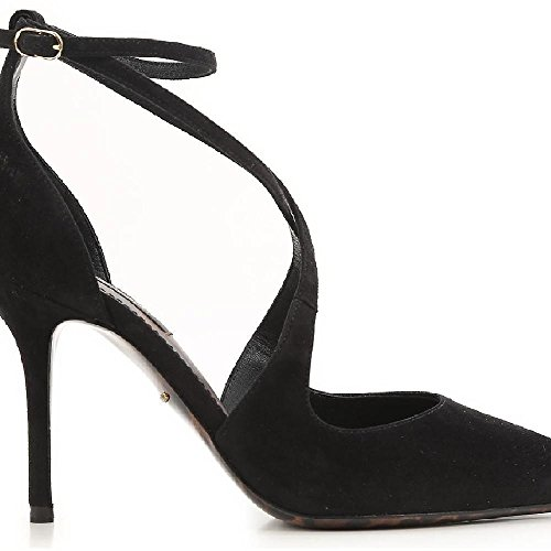 Dolce&gabbana Women's Black Suede Leather High Heel Sandals Shoes - Size: 37 EU Dolce & Gabbana High Heel Heels