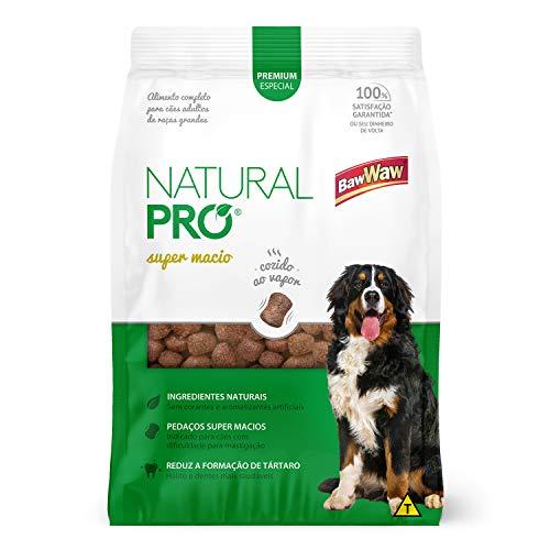 Baw Waw Natural Pró Alimento Super Macio  Para Cães Adulto - 12x400g