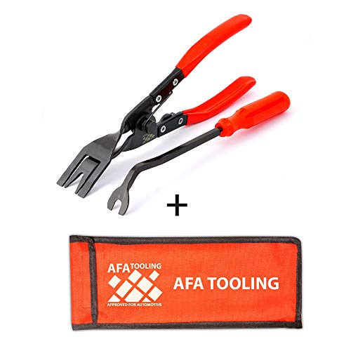 AFA Tooling (2 Pcs) Clip Plier Set and Fastener Remover- The Most Essential Combo Repair Kit (Tool Plastic Rivet Removal)