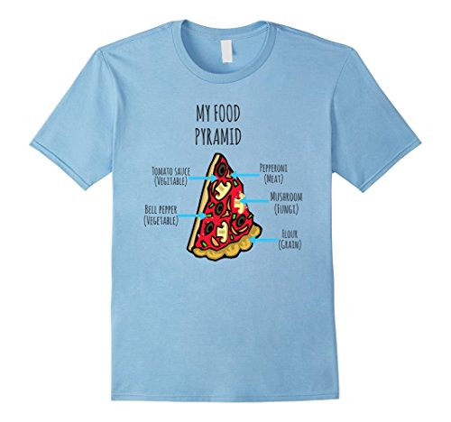 food pyramid pizza shirt - 5