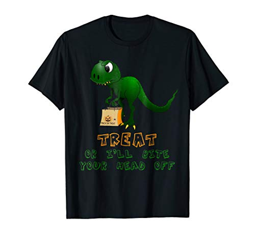 Baby Dinosaur Trick Or Treat Halloween T-Shirt for